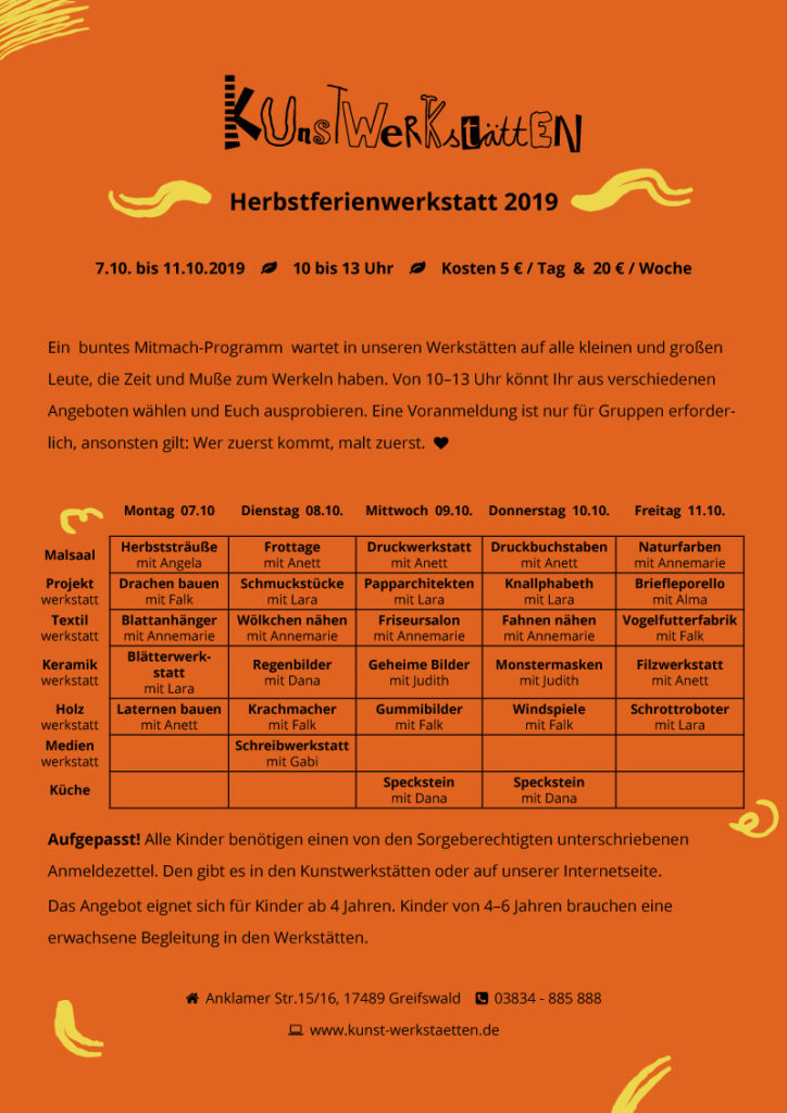 Herbstferienwerkstatt 2019