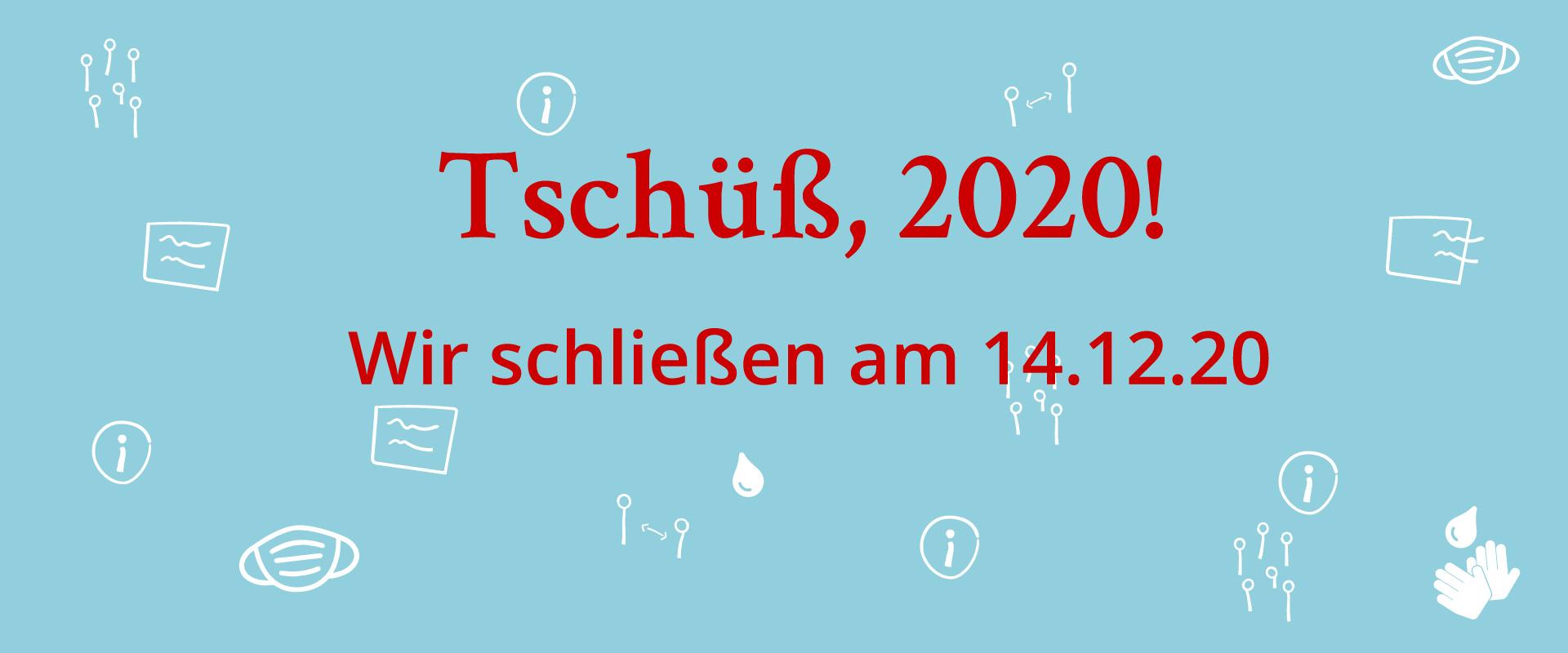 Kunstwerkstätten schließen ab dem 14.12.20